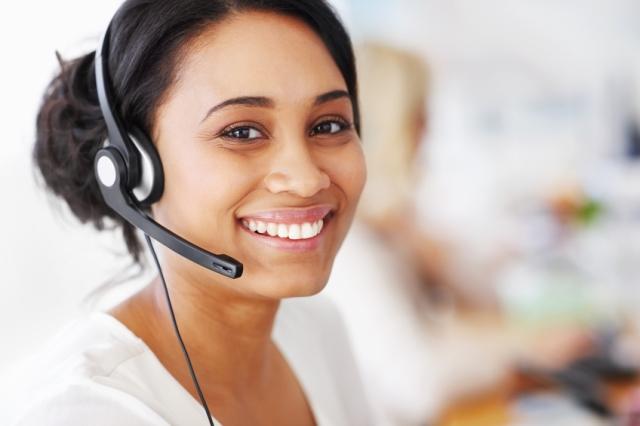 telephone etiquette smiling
